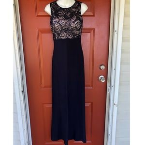 Beautiful black sleeveless gown